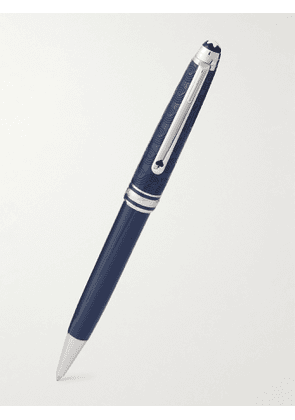 Montblanc - Meisterstück Around the World in 80 Days Classique Resin and Platinum-Plated Rollerball Pen - Men - Blue