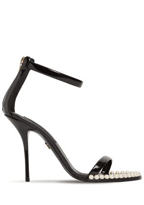 105mm Keira Patent Leather Sandals