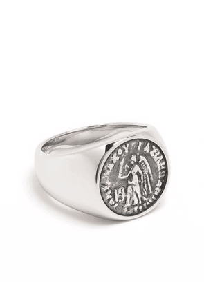 Tom Wood Coin Angel sterling silver ring