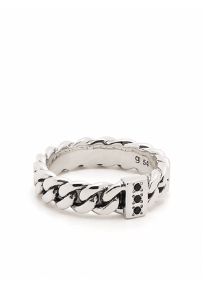 Tom Wood Chain Slim Spinel sterling silver ring