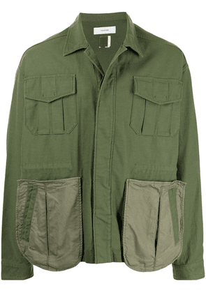 Facetasm single-breasted fitted jacket - Green