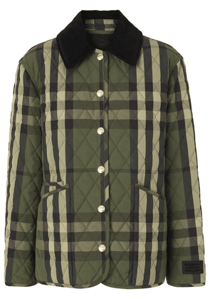 Burberry quilted checked jacket - Green