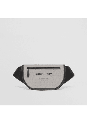 Burberry Large Canvas and Leather Olympia Bum Bag