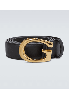 Thin G buckle leather belt