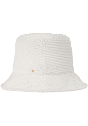 Gucci GG cable-knit fedora hat - White