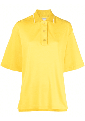 LOEWE Anagram-embroidered polo top - Yellow