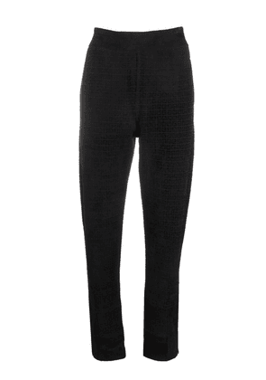 Givenchy monogram-print tapered trousers - Black