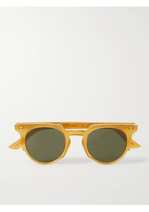 Cutler and Gross - Round-Frame Acetate Sunglasses - Men - Yellow