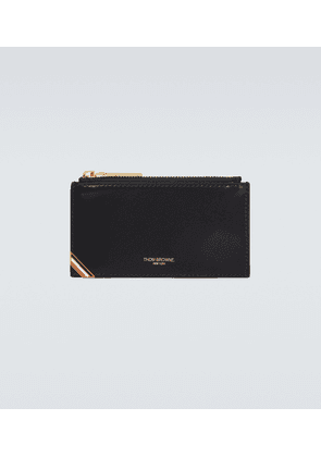 Zipped leather cardholder