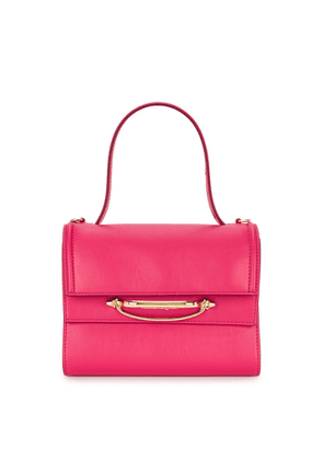 Alexander McQueen The Story Small Fuchsia Leather Top Handle Bag