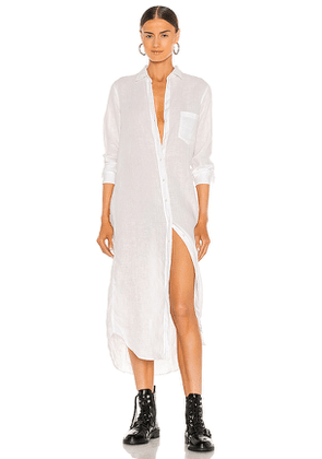 Frank & Eileen Rory Woven Long Dress in White. Size S, M, L.