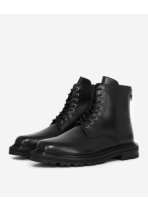 The Kooples - Black leather boots with thick sole - MEN