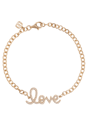 Love 14kt yellow gold and diamonds chainlink bracelet