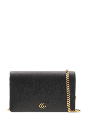 Gg Marmont Leather Mini Chain Wallet
