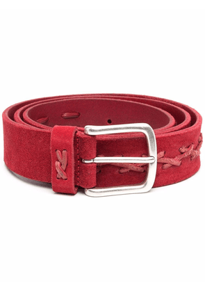 Anderson's stitched leather belt - Red