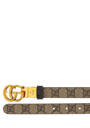 Gg Marmont Reversible Thin Leather Belt