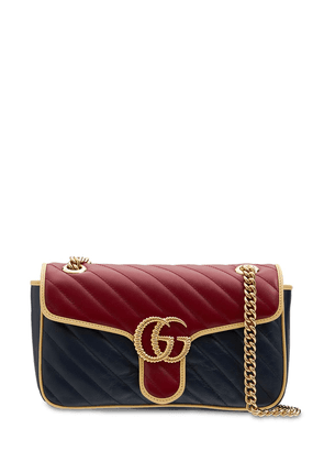 Small Gg Marmont Leather Shoulder Bag