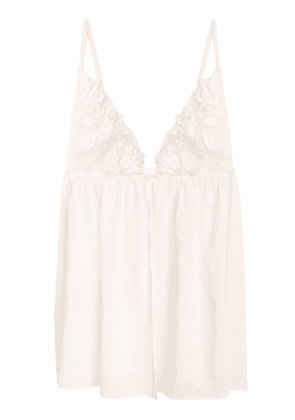 Lily Embroidery Silk Babydoll Set