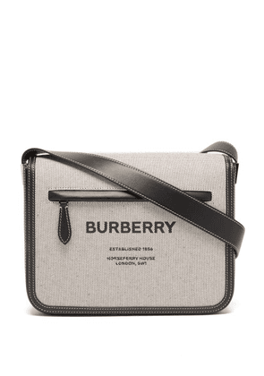 Burberry - Olympia Canvas And Leather Cross-body Bag - Mens - Black Beige