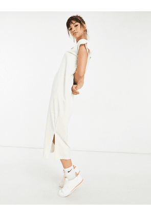 Nike Earth Day maxi dress in pale yellow-White