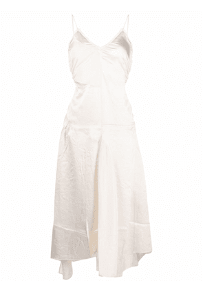Acne Studios ruched panelled satin dress - Neutrals
