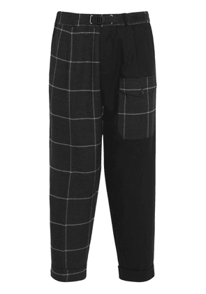 Belted Patchwork Pants