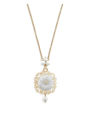 Dolce & Gabbana 18kt yellow gold rose pendant necklace