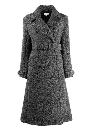 Beaufille melange-effect knitted trench coat - Grey