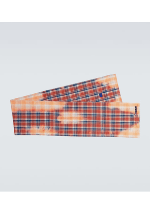 Vino flannel checked scarf