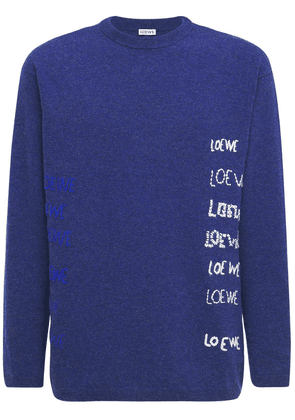 Embroidered Wool Knit Sweater
