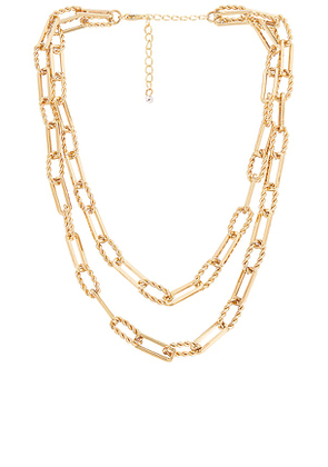 8 Other Reasons Pop Punk Necklace in Metallic Gold.