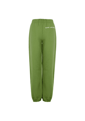Marc Jacobs (The) The Sweatpants Green Logo Cotton Trousers