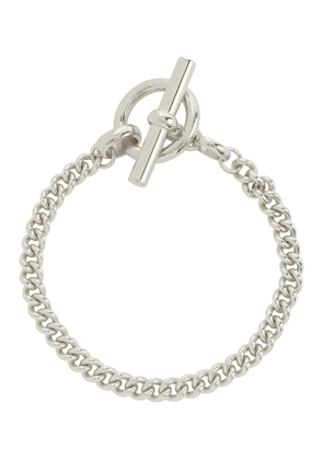 Curb Chain Lariat sterling silver bracelet