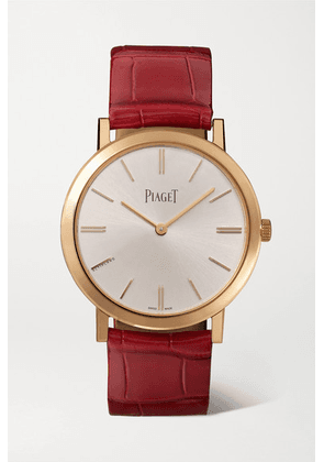 Piaget - Altiplano Automatic 35mm 18-karat Rose Gold And Alligator Watch