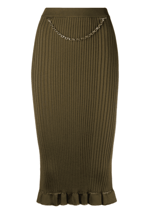Givenchy chain-link detail skirt - Green
