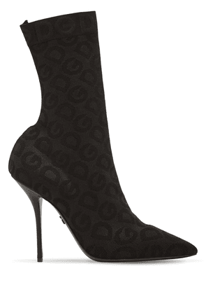 90mm Knit Sock Ankle Boots