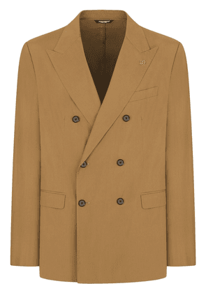 Dolce & Gabbana double-breasted cotton suit - Brown