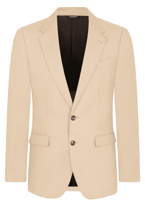 Dolce & Gabbana single-breasted flax suit - Neutrals