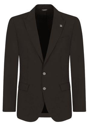 Dolce & Gabbana single-breasted cotton suit - Black