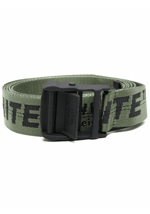 Off-White Industrial-strap fabric belt - Green