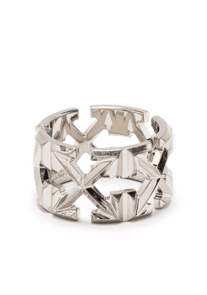 Off-White signature Arrows-motif ring - Silver