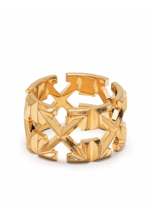 Off-White signature Arrows-motif ring - Gold