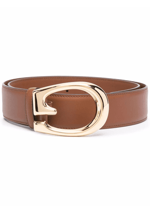 Gucci G-buckle leather belt - Brown