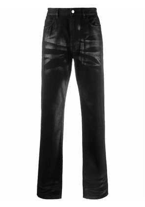 Givenchy faded-effect slim-cut trousers - Black