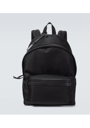 Nylon and leather City backpack