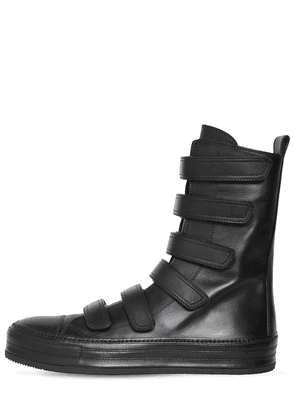 Roger Nappa Leather High Strap Sneakers