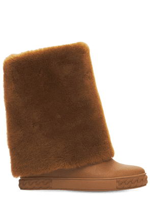 80mm Calgary Double Face Leather Boots