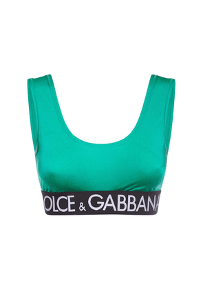 Logo Cotton Jersey Cropped Top