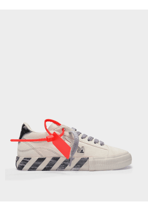 Off-White Low Vulcanized Sneakers in White and Grey