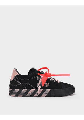 Off-White Low Vulcanized Sneakers in Black and Pink
